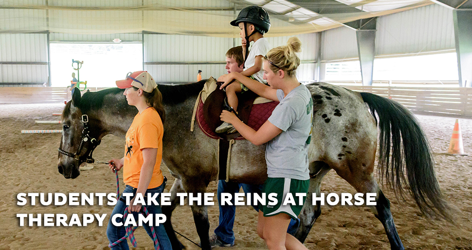 STUDENTS TAKE THE REINS AT HORSE THERAPY CAMP