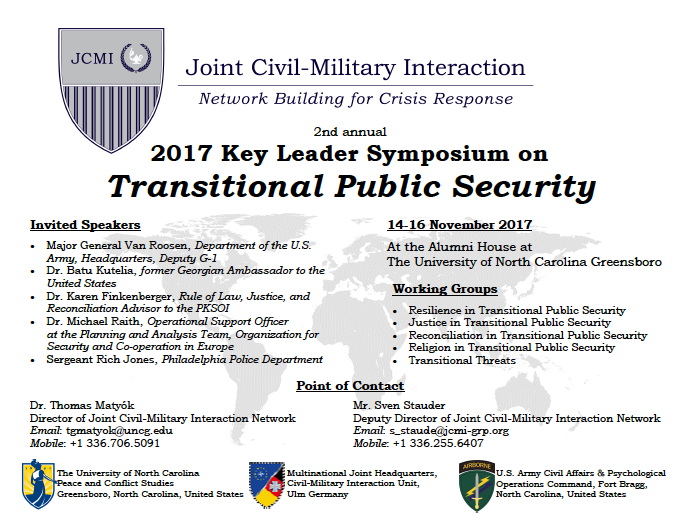 Joint Civil Military Interaction Conference flyer