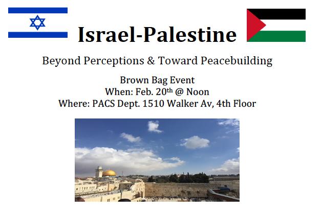 Israel Palestine: conference flyer