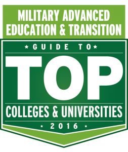 Military Advanced Education & Transitition badge for Top Colleges and Universities
