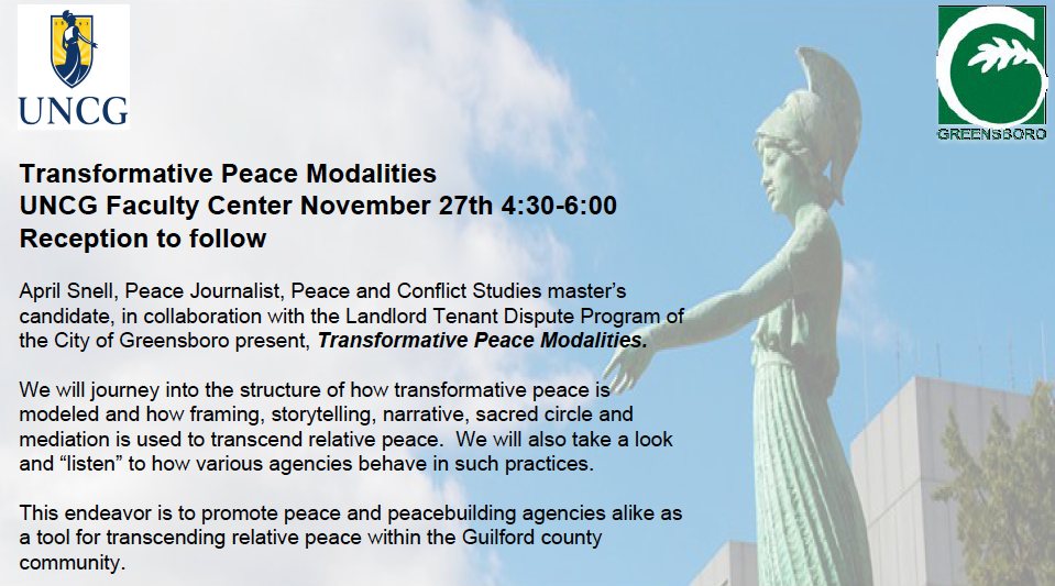 Transformative Peace Modalities flyer