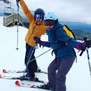 Dr. Tanner on the slopes