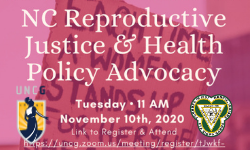 NC Reproductive Justice advocacy annoucement