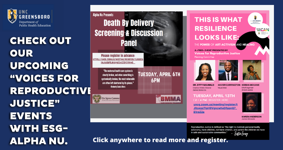 Voices of Reproductive Justice Event Flyers