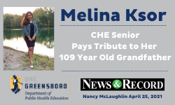 Student Melina Ksor Tribute to a grandfather