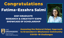 Fatima-Ezzahra Salmi Showcase of Scholarship Winner