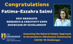 Fatima-Ezzahra Salmi Showcase of Scholarship Winner