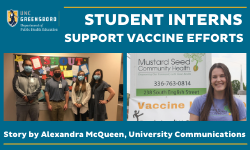 student interns supporting community vaccine clinics
