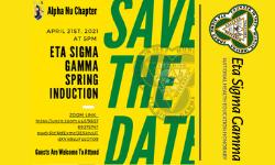 Eta Sigma Gamma Induction announcement