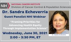 Dr. Echeverria NIH panelist