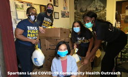 faculty and students helping community during covid 19