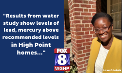 Ph.D student Love Odetola on safe drinking water in High point