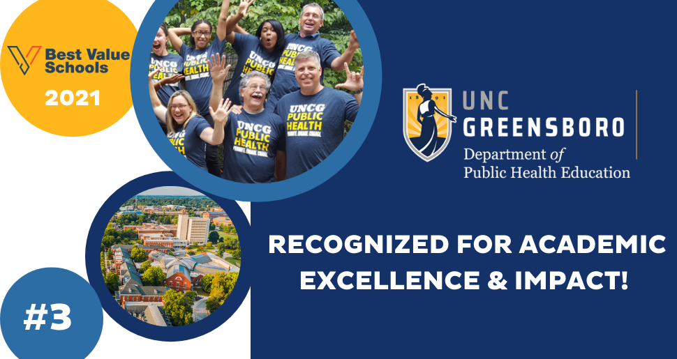 UNCG PUBLIC HEALTH VOTED # 3 BY BEST VALUE SCHOOLS