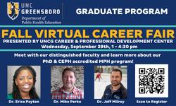 graduate program at career fair
