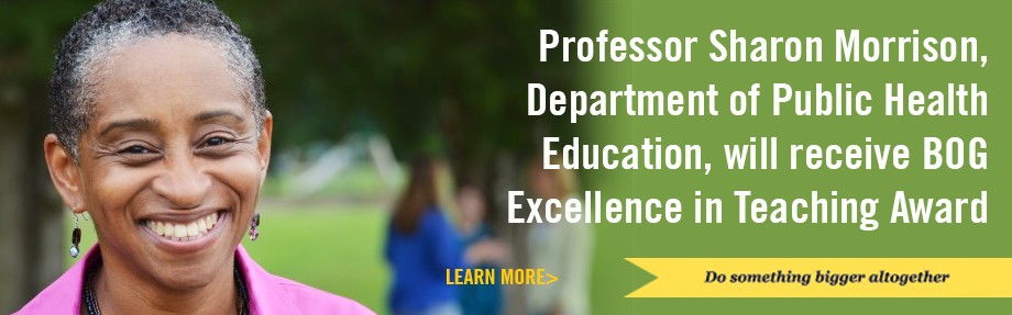 Sharon Morrison to receive 2017 award for Excellence in Teaching