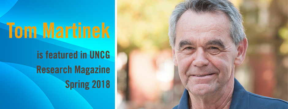Tom Martinek featured in UNCG Research Magazine Spring 2018